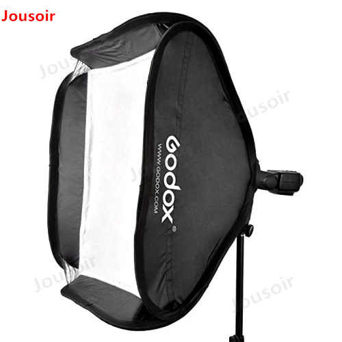 Godox 50 40x40 cm x cm 60 50x60 cm 80x80 cm Dobrável SoftBox Speedlite flash Softbox para S-tipo Bracket fit Bowens Elinchrom MountCD50