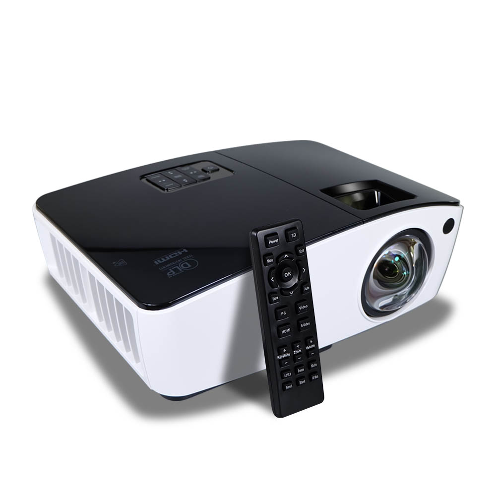2000 ANSI Lumens HD Projector Home 3D Projector DLP Beamer Short Throw Upgraded version Projector Daytime Meeting Outdoor Bulb ultra short throw focus daylight projector home cinema 8000 lumens 200 inch usb hdmi 1080p full hd 3d dlp hdmi proyector beamer
