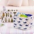 Waterproof Linen Fabric Storage Basket Storage Bin with Handle for Kids Nursery and Babies Room Polar Bear Tree hedgehog whale