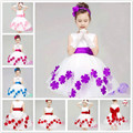 Age 3- 9T Flower girl dress children wedding dress girls kids princess dress size 3t 4 5 6 7 8 9  years old