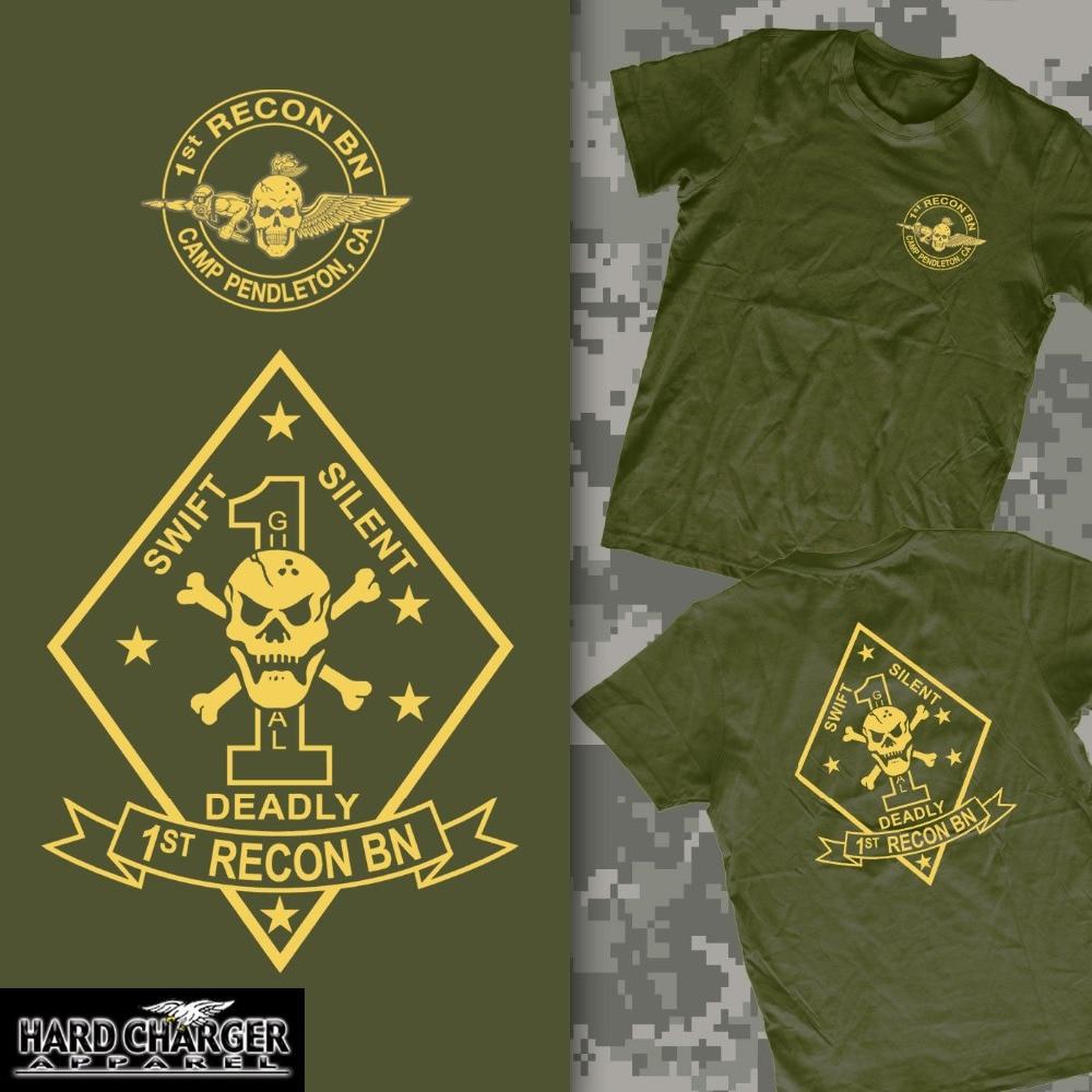 2018 New Arrival Men'S Fashion 1st Recon Battalion Marine Corps Camp Pendleton, CA Recon Jack USMC MOTO shirt funny shirts