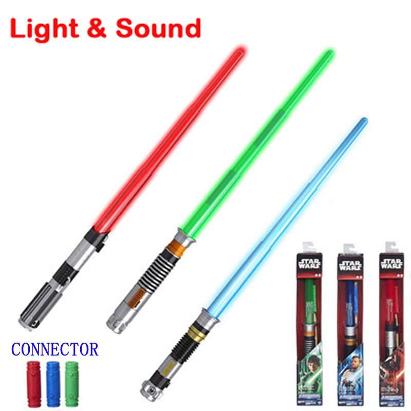 Star Wars Lightsabers Toys : Star wars foldable lightsaber with sound and light laser