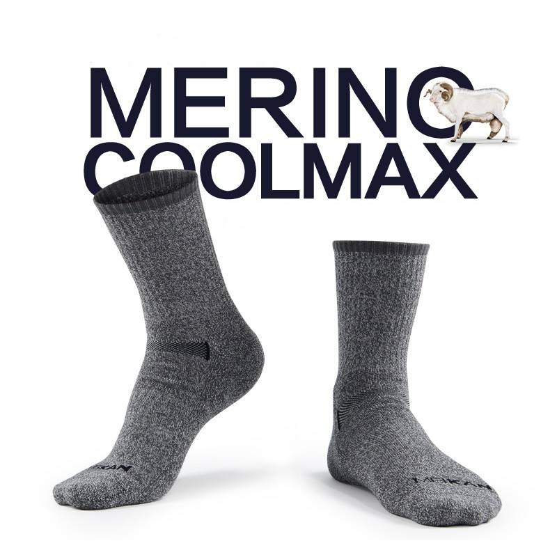 High quality Gift package Mens Merino wool terry socks quick-drying coolmax Socks thick warm socks