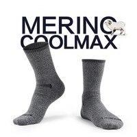 High Quality Gift Box Mens Merino Wool Terry Socks Quick Drying Athletic Coolmax Socks Thick Winter