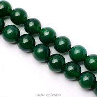 Free Shipping 12mm Smooth Natural Green Color Agate Round Shape Gems Loose Beads Strand 15 DIY