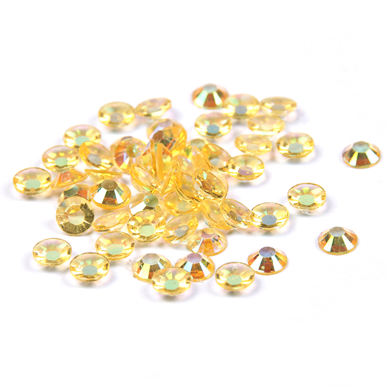 Resin Rhinestones Light Topaz AB 2mm-6mm 1000-10000pcs/lot Non Hotfix Round Glue On Beads For Nail Art Decoration DIY Supplies realflame 10000 ab дровник