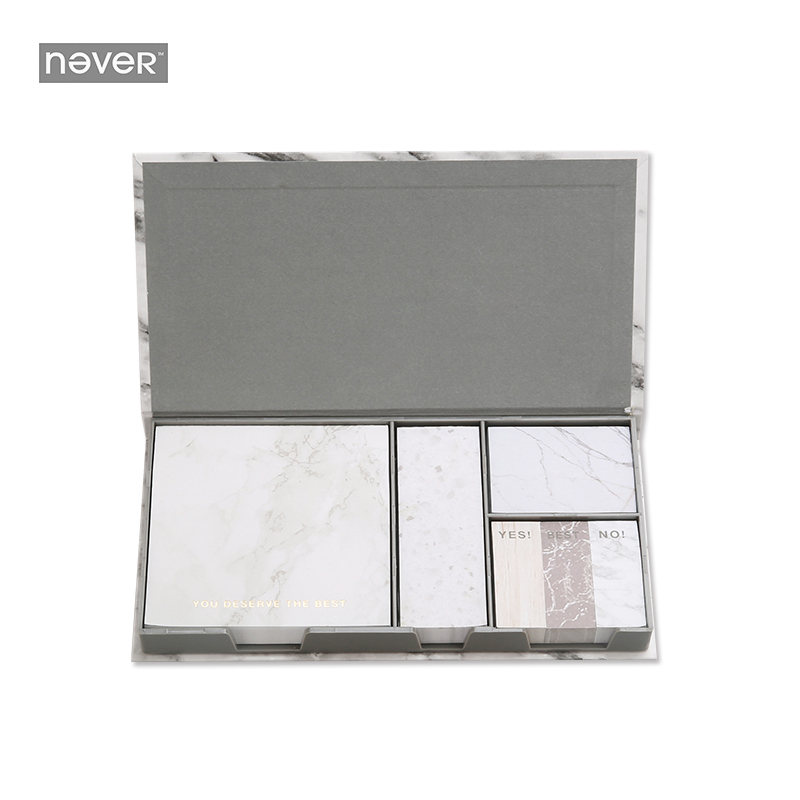 Never Marble Series Sticky Notes Post It Set With Sticker Box Self-adhesive Paper Trend 2017 Office Accessorie Stationery Store never watercolor collection sticky notes set memo pad set post it diary stickers fashion stationery office and school supplies