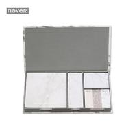 Nooit Marmer Serie Memoblokjes Post Set Met Sticker Doos zelfklevende Papier Trend 2017 Kantoor Accessorie Briefpapier Winkel