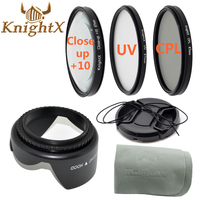 KnightX ND UV FLD CPL Lens Filter Set Cleaning Cloth For Nikon Sony Canon DSLR T5i