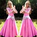 Спящая Красавица Аврора Платье Принцессы Розовый Версия Взрослых Женщин Хэллоуин Карнавал Косплей Костюм На Заказ