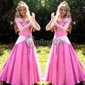 Sleeping Beauty Aurora Princess Dress Pink Version Adult Women Halloween Carnival Costume Cosplay Custom Made