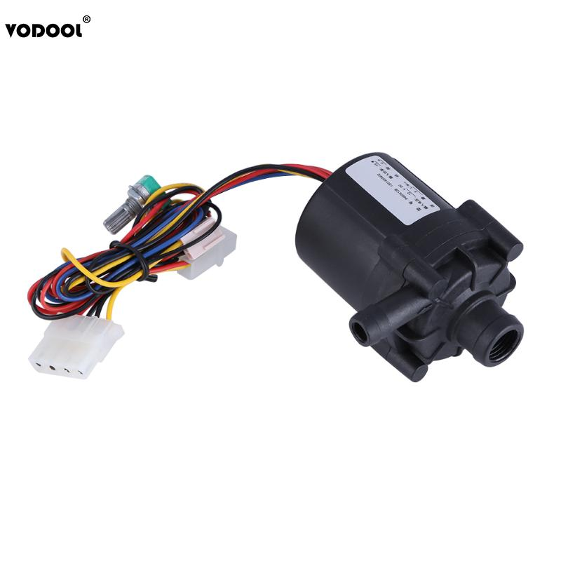 Promotion DC 12V 10W Adjustable Water Flow Pump for PC Water Cooling System Computer Components Cooler Water Pump Radiator newarrival dc 12v dc generator 10w micro hydro water turbine generator water 10w 12v cp353