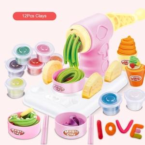 Image 3 - DIY искусственный пластилин, машина для мороженого, форма, игровой набор, игрушка «сделай сам», изготовитель лапши ручной работы, кухонная игрушка, подарок для детей