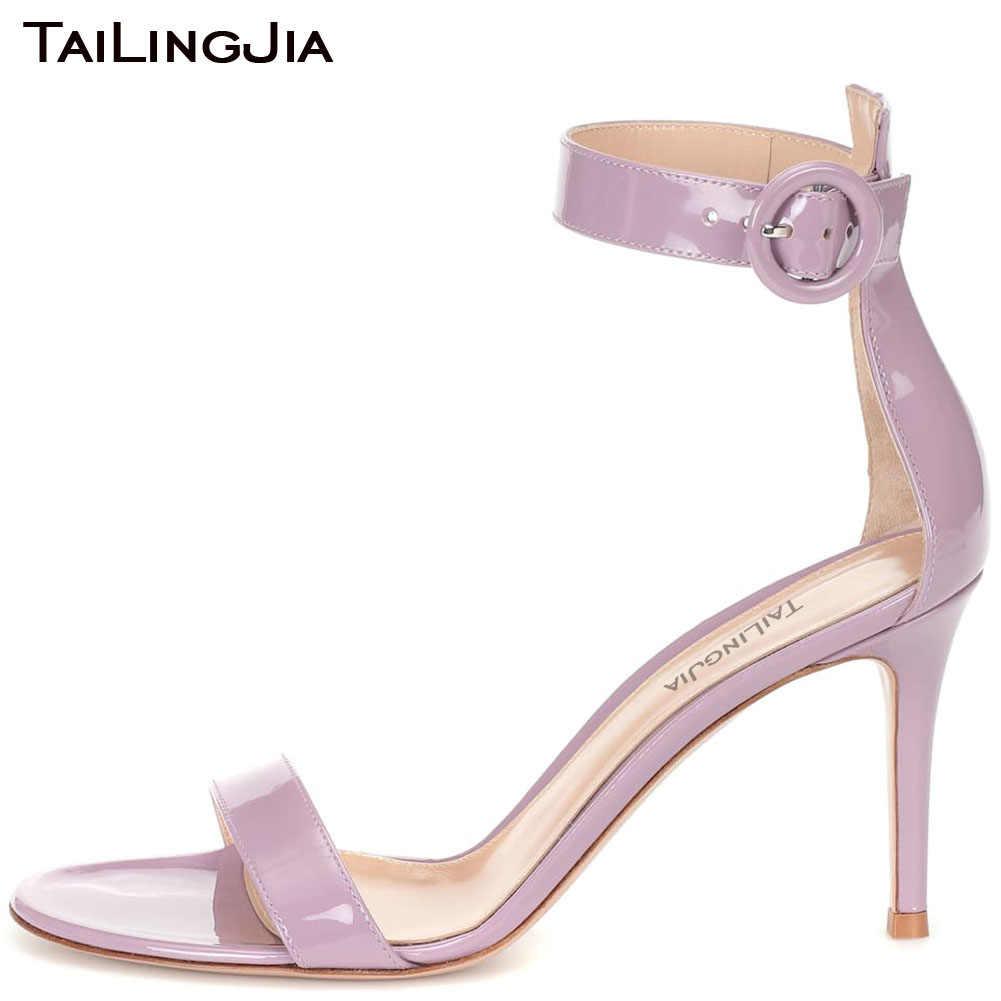 Tailingjia Light Purple Patent Leather