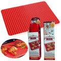 Red Pyramid Pan Bakeware Antiaderente Esteira De Cozimento Do Silicone Pads Método Fácil para Assar Forno Bandeja Folha de Cozinha Utensílios de cozinha Mat