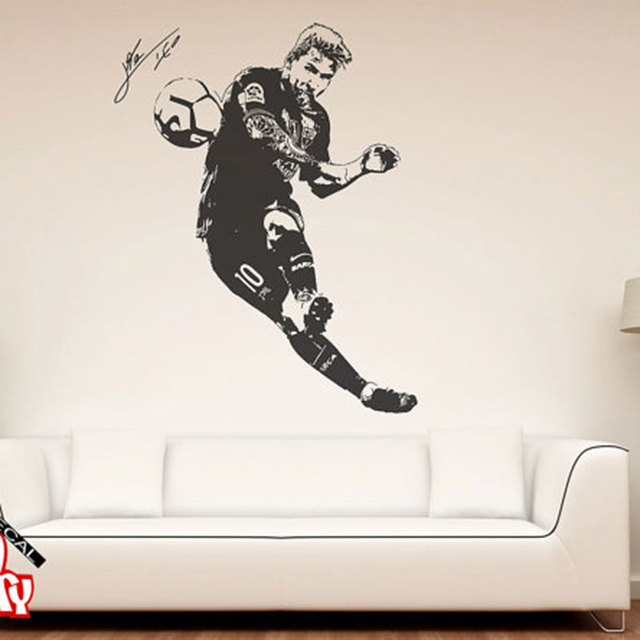 Wandtattoo Fussballer Aliexpress.com : Buy Lionel Messi 2017 Wall Decal Sticker