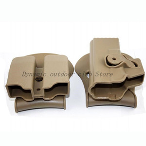 Image 5 - Тактическая охотничья кобура IMI Glock 17 19 ремень с петлей искусственная кобура для пистолета с зажимом для магазина охотничье снаряжение