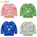 Jiuhehall Cartoon Bear Pattern Hoodies For Boy Girls Fashion Long Sleeve Kids Pullover Cotton O-Neck Children's Tops CMB861