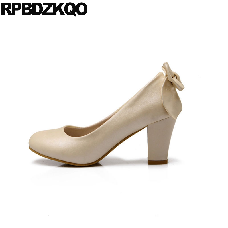 fashion shoes brand 3 inch block high heels bow pumps beige 10 42 big size 4 34 modern white office women 11 43 2018 cheap 33fashion shoes brand 3 inch block high heels bow pumps beige 10 42 big size 4 34 modern white office women 11 43 2018 cheap 33