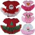 De alta Calidad de La Muchacha Muchacho Suumer Traje Novedad Traje Del Bebé de la Navidad Sistemas de la ropa de Minnie Mickey Partido Cosplay Regalo 0-3 6-9 12 M uno