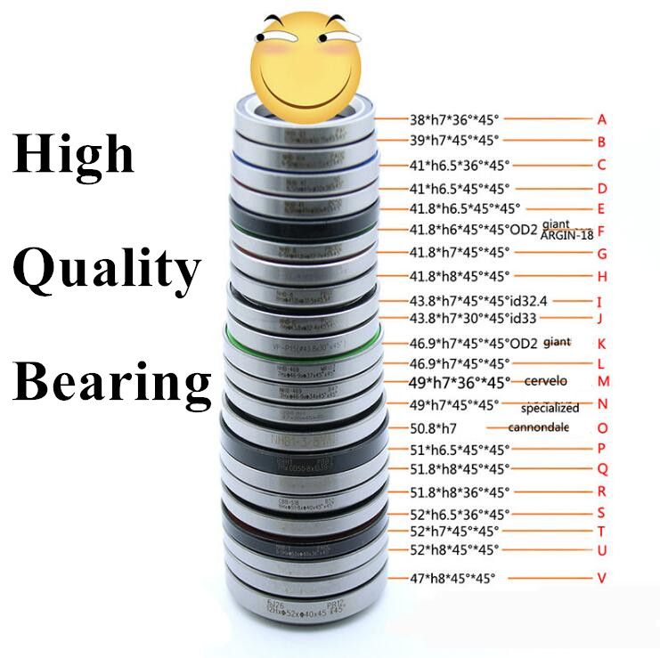 цена Neco All Size 41/41.8/47/49/51.8/52mm Bicycle Fork OD Headset Bearing Road Bike MTB Accessories Part Repair Parts Equipment