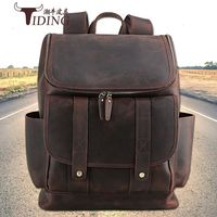 080818 newhotstacy men vintage leather backpack male travel backpack