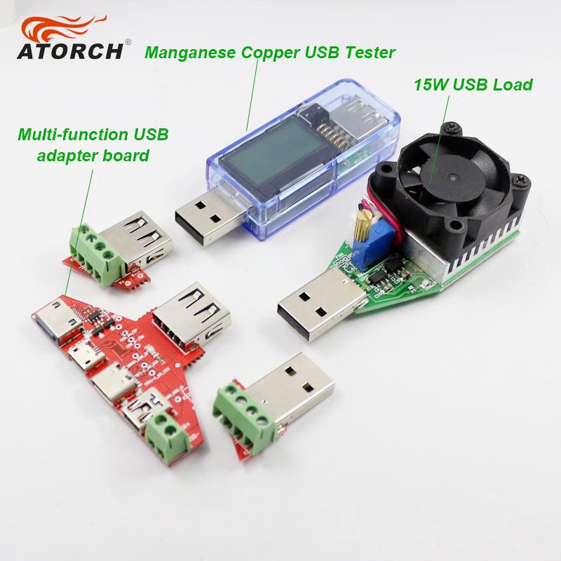 ATORCH USB tester Woltomierz cyfrowy DC + iphone micro USB Type-c - Przyrządy pomiarowe - Zdjęcie 2