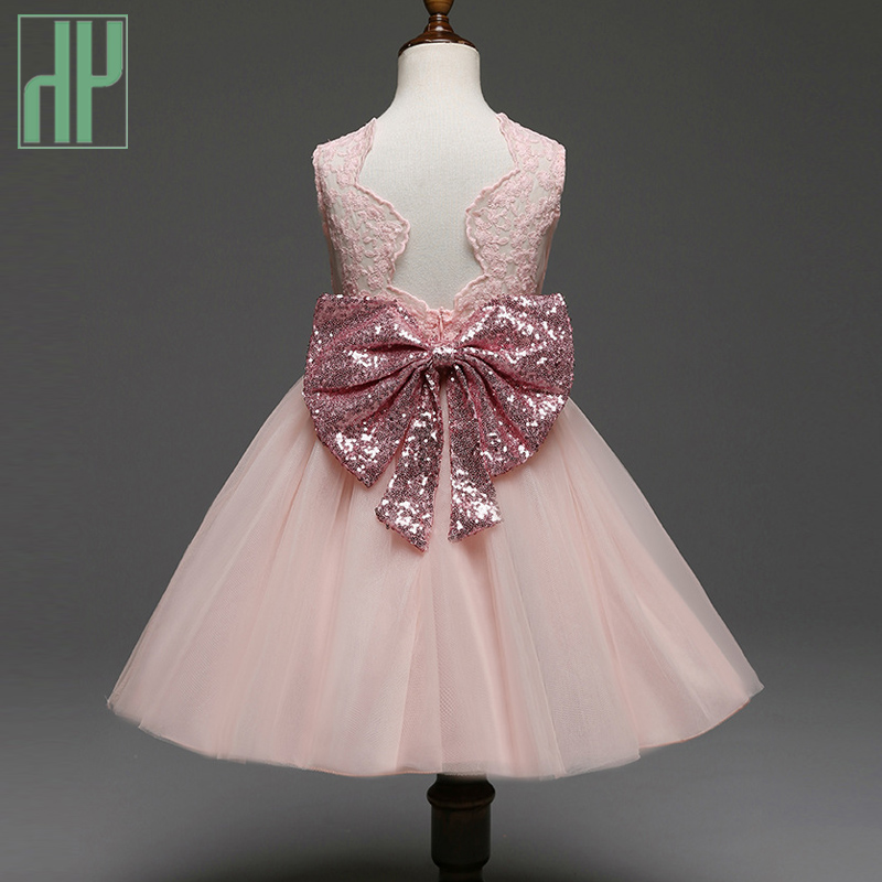 Pageant Toddler Girls clothes Bow Tie lace evening party dress Kids wedding dresses for girls princess dress 1 2 4 6 7 Years baby girl pageant wedding dresses infant princess girls birthday party dress christening kids frock designs for 2 4 6 8 10 years