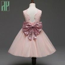 e13d23c2d1a60 Pageant enfant fille robes Arc dentelle de soirée partie vêtement fille  pour les filles rouge blanc de mariage princesse robe de.