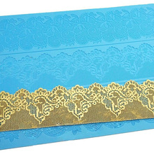 Lace silicone mold 3 d lace mat Sugar lace special tools cortadores de fondant silicon mould for fondant cake decorating tools 3 layer fondant cake mould