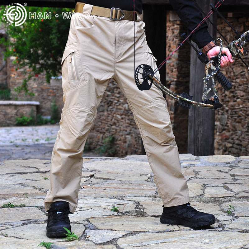 Tactical Military Quick Dry Pants Mens Thin Breathable Spring Summer Sport Trousers SWAT Hunting Pants