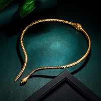 Tuliper чокер Collier sous forme de serpent Déclaration Animal Ras Du Cou Pour Femmes Or Ton Fête Bijoux Cadeau Collier Femme подвеска ожерелье