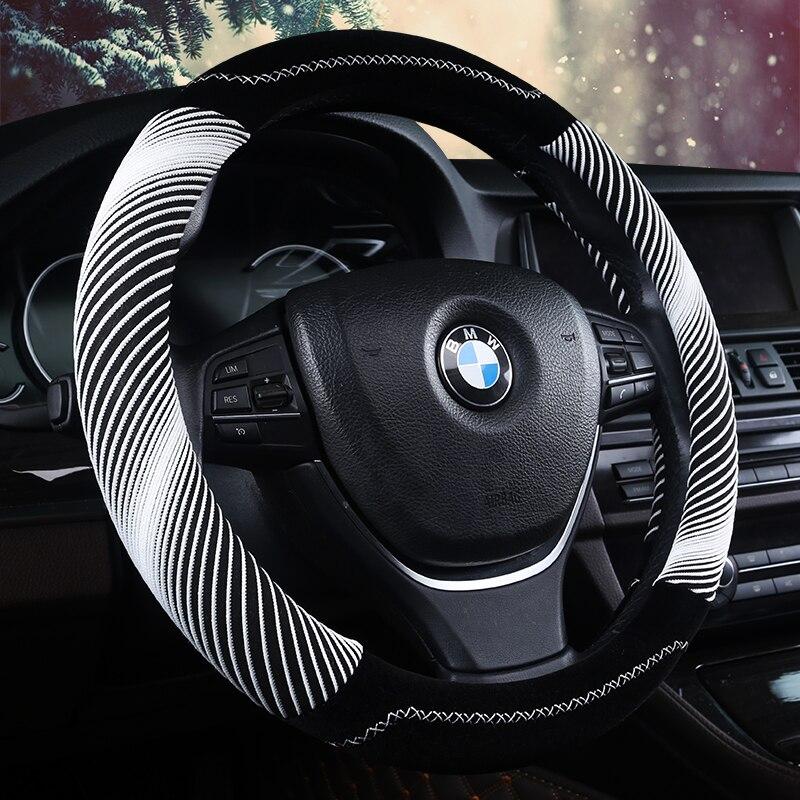 3D Helix Linie Lenkung-rad Hohe Qualität Samt Lenkradabdeckung Auto Styling,