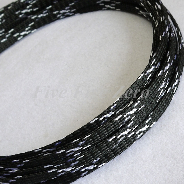 4mm Braided PP Cotton Yarn + PET Expandable Sleeving Wire Cable ...