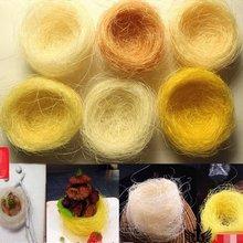 Корешковым волокна деко золото «Птичье гнездо» творческие блюда итальянской кухни инструменты пластина украшения блюдо