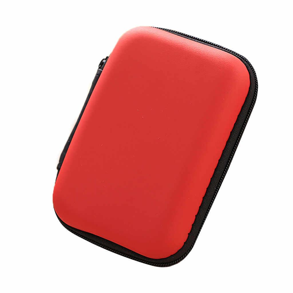 ISHOWTIENDA 2019 Мини-молния жесткая кожаная сумка для хранения наушников чехол для наушников коробка горячая распродажа