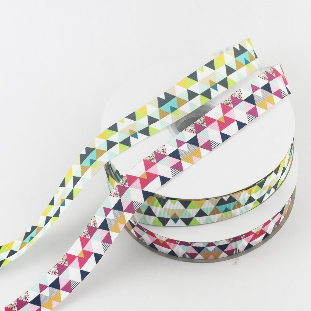 "1/"" wide 1m 2m 5m White Cream Flamingo Printed Grosgrain Ribbon 25mm"