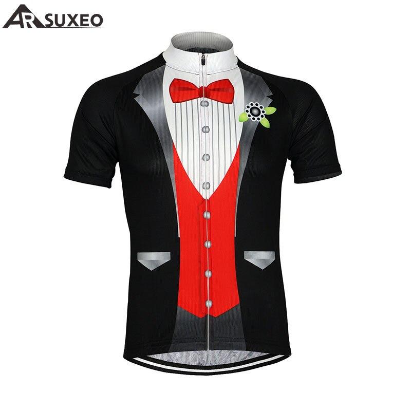 Prix pour 2017 ARSUXEO Hommes Vélo Jersey Vélo Vélo Manches Courtes Jersey Mountaion Vêtements VTT Jersey Chemises T Chemise SS511