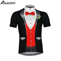 2015 ARSUXEO Men Cycling Jersey Bike Bicycle Short Sleeves Jersey Mountaion Clothing MTB Jersey Shirts Casual