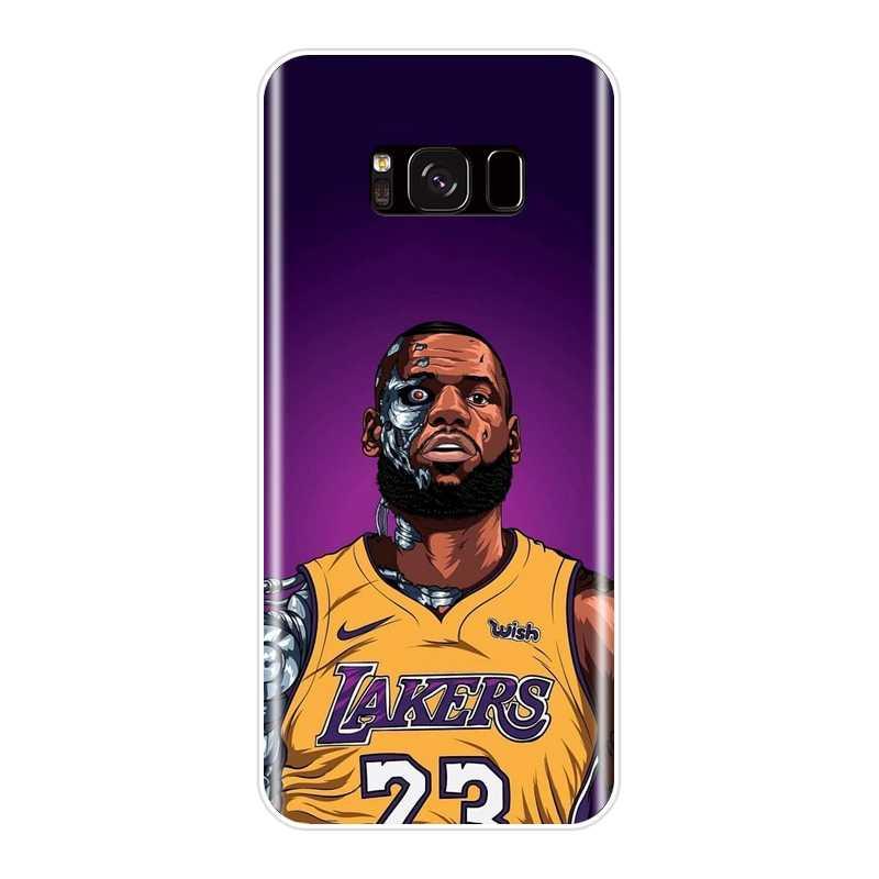 de56d8ff88f ... Basketball Lebron James Phone Case For Samsung Galaxy S8 S9 Plus S5 S6  S7 Edge Silicone ...