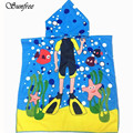 Sunfree 2017 HOT SALE Hooded Towel for Kids Toddlers Bath Wrap Beach Poncho with Hood Robe Baby Brand New High Quality Jan 11