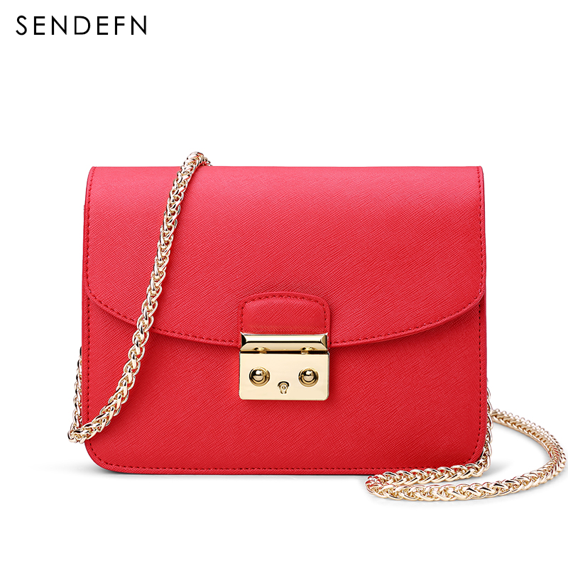 SENDEFN Brand Quality Leather Women Messenger Bags Fashion Women Shoulder Bags Ladies Satchels Women Handbags Crossbody Bags bromen crossbody bags for women leather handbags pvc printing satchels ladies shoulder messenger bag brand design dames tassen