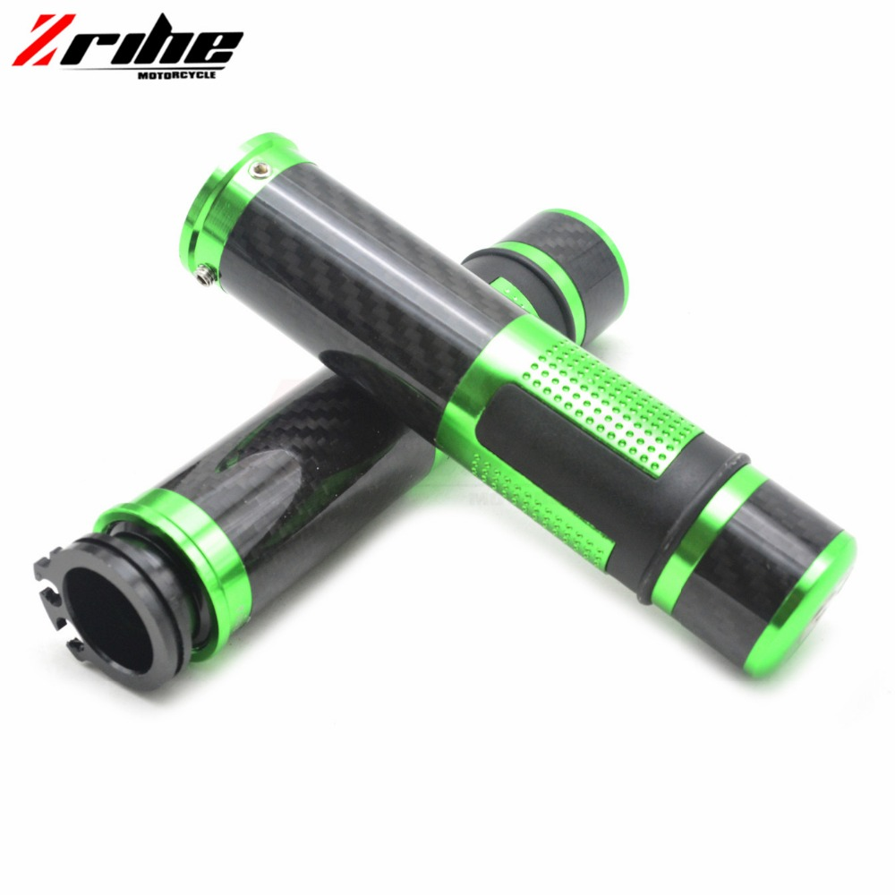 for 7/8 22mm Universal Motorcycle Handle bar / Handlebar Grips Carbon Fiber and aluminum Material For Yamaha XJ6 DIVERSION 2009