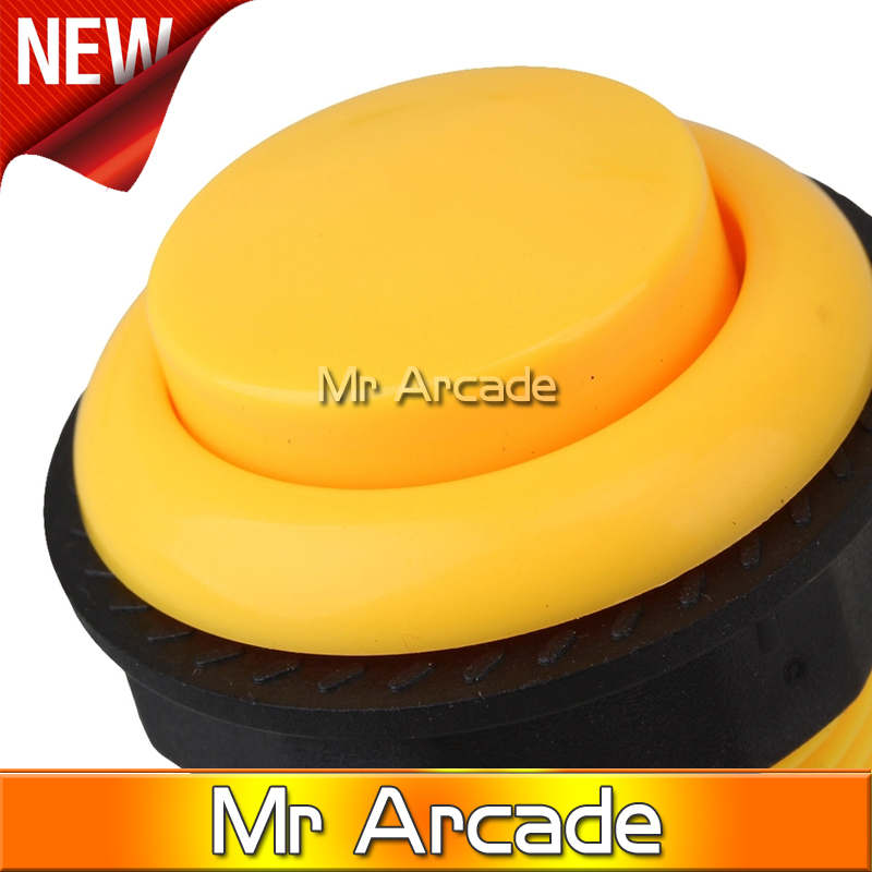 free shipping Arcade Push Button Set of 1 pcs Yellow / Green / Red 28mm Into the key arcade fighting box body machine button