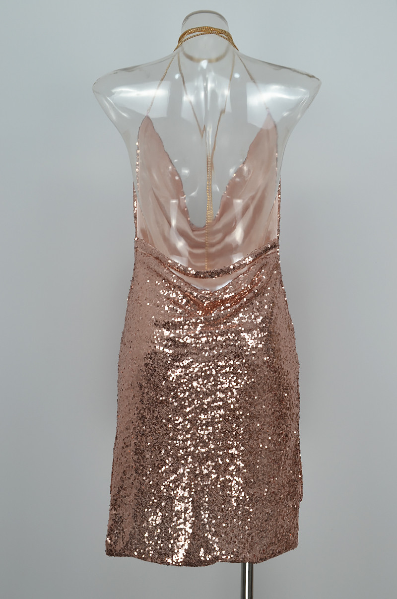 HTB1N D1PpXXXXbIXFXXq6xXFXXXI - FREE SHIPPING Front Draped Backless Halter Sparkle Women's Sequin Dress JKP297