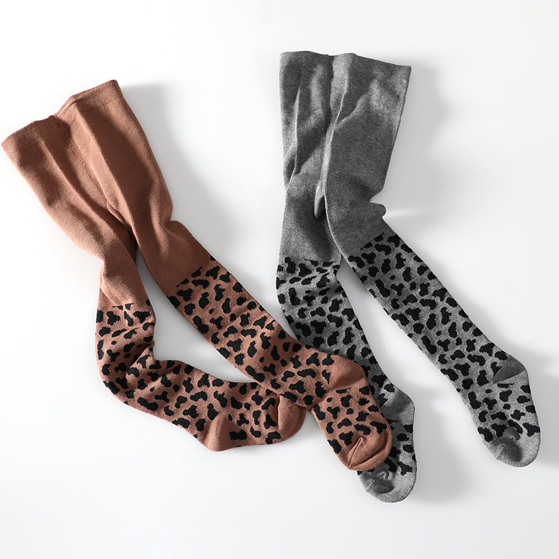 Muslinlife 2018 Cute Newborn Baby Tights Baby Girl Boy Classic Leopard Stripped Cotton Tights Autumn Winter Warm 0-8T Stockings
