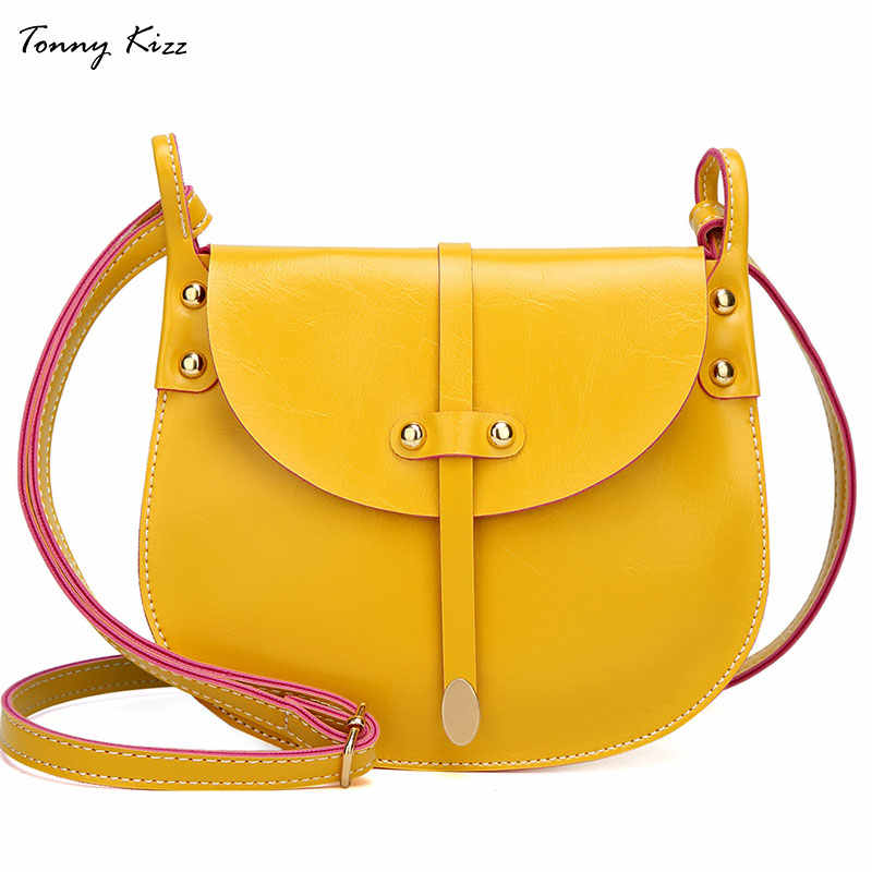 Tonny Kizz pequenos sacos crossbody para sacos de ombro das senhoras do vintage sacos do mensageiro das mulheres de couro macio bolsa bolsa feminina preta