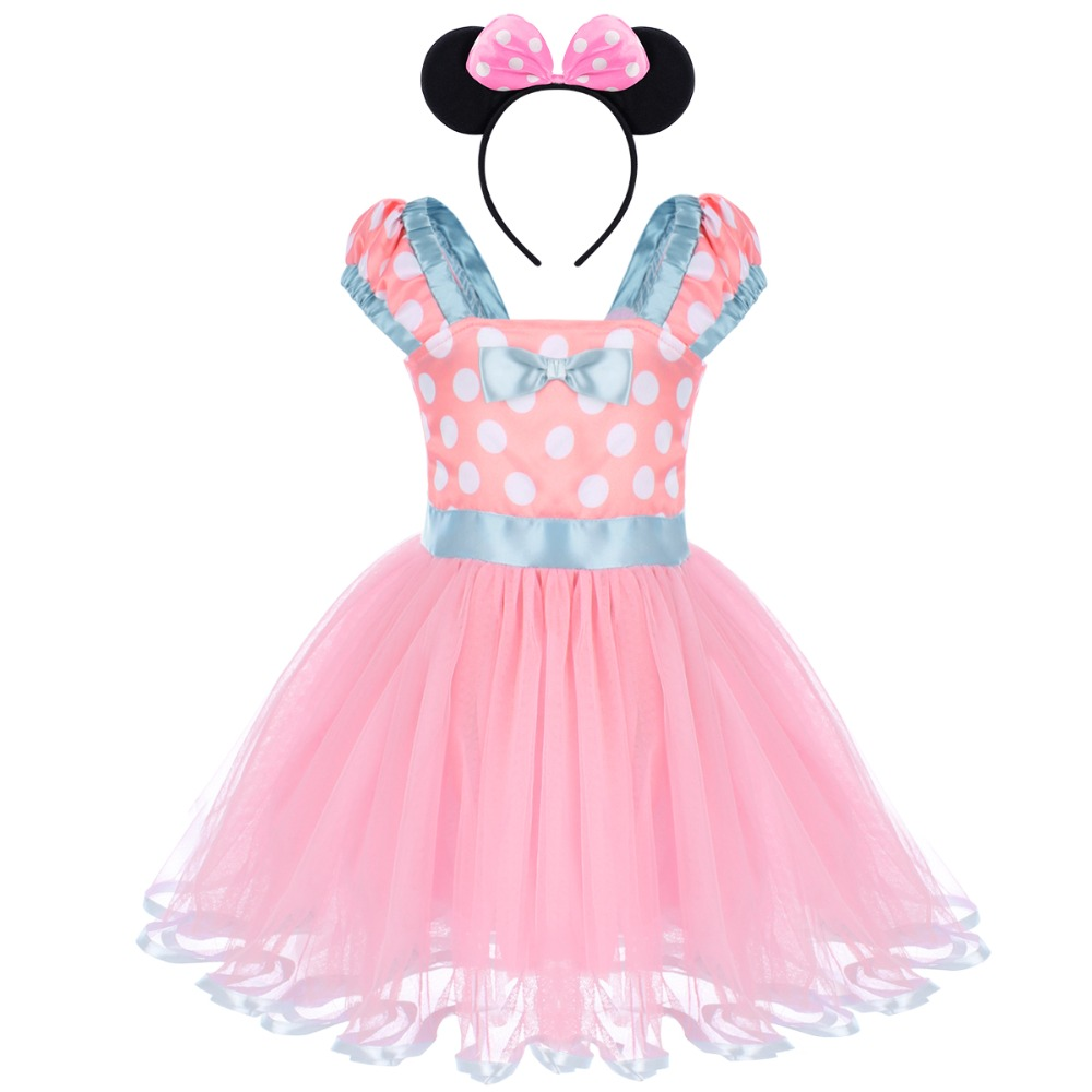 2Pcs Set Mickey Mouse Clothing For Baby Girl 1St Birthday -9052