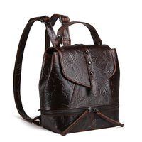 Retro Vintage Fashion Women S Genuine Cowhide Leather Backpack Shoulder Bag Casual Tote Pouch For Female