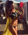 2017 Sexy Women Bikinis High Neck Thong Bikini Set Pineapple Swimwear Swimsuit Brazilian Maillot De Bain Bathing Suit Bequini
